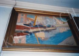 Márffy Ödön - Vitorlás öbölben; Jelezve jobbra lent: Márffy; Fotó: Kieselbach Tamás