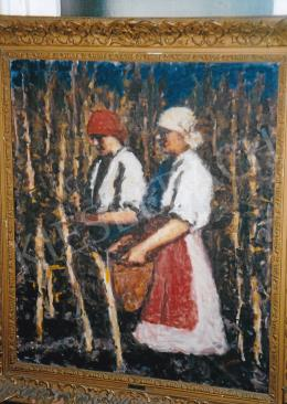 Koszta, József - Working on the Field; oil on canvas; Signed lower right: Koszta; Photo: Tamás Kieselbach