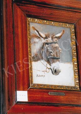 Edvi Illés, Aladár - Donkey Head; Signed lower left: E. Illés A.; Photo: Tamás Kieselbach