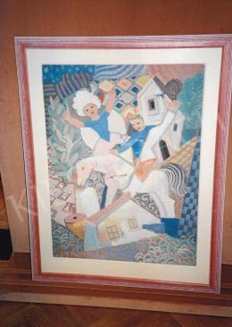 Kádár Béla - Kompozíció; Jelezve jobbra lent: Kádár Béla; Fotó: Kieselbach Tamás