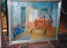 Kmetty János - A festő szobája; Jelezve jobbra lent: Kmetty; Fotó: Kieselbach Tamás
