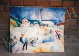 Patkó Károly - Napsütötte itáliai táj (Téglagyár), 1930; 90x105 cm; Tempera, vászon; Jelezve balra lent: Patkó 1930; Fotó: Kieselbach Tamás