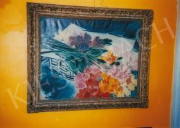 Vaszary, János - Table Still Life with Flowers, oil on canvas, Signed lower left: Vaszary J., Photo: Tamás Kieselbach