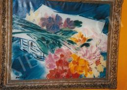 Vaszary János - Asztali csendélet virágokkal, olaj, vászon, Jelezve balra lent: Vaszary J., Fotó: Kieselbach Tamás