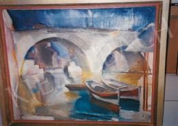 Aba-Novák, Vilmos - Bridge in Rome, 1929; oil on canvas; Signed lower left: Aba-Novák 29 Róma; Photo: Tamás Kieselbach