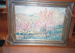 Boromisza Tibor - Virágzó fák, 1908; Jelezve jobbra lent: Boromisza Tibor 1908; Fotó: Kieselbach Tamás