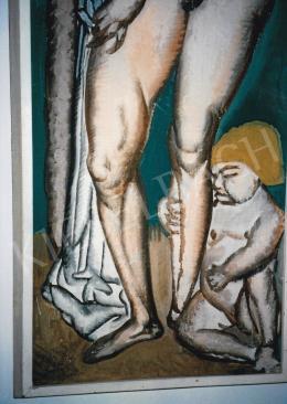 Lehel Mária - Akt, 1911 körül, 140x45 cm, olaj, vászon, Jelzés nélkül, Rippl-Rónai Múzeum, Kaposvár, Fotó: Kieselbach Tamás