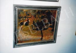 Márffy Ödön - Parkrészlet, 1910 körül, 54x64 cm, olaj, lemezpapír, Jelezve balra lent: Márffy, Rippl-Rónai Múzeum, Kaposvár, Fotó: Kieselbach Tamás