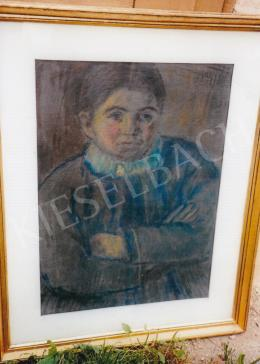 Nagy István - Kislány portré; Jelezve jobbra fent: Nagy I.; Fotó: Kieselbach Tamás