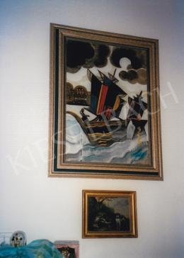 Scheiber, Hugó - Up: Sail in the Storm; Signed lower middle: Scheiber; Photo: Tamás Kieselbach