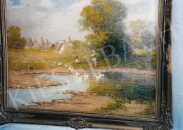 Neogrády, László - Village Scene; oil on canvas; Signed lower right: Neogrády László; Photo: Tamás Kieselbach