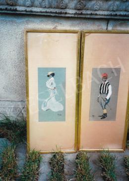Faragó Géza - Balra: Nő fehér ruhában; Jobbra: Zsoké; Fotó: Kieselbach Tamás