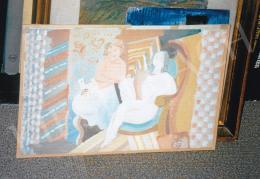 Kádár Béla - Pihenő nők, Jelezve jobbra lent: Kádár Béla; Fotó: Kieselbach Tamás