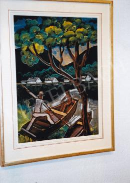 Scheiber, Hugó - In the Boat; 58 x 44 cm; Signed lower right: Scheiber H.; Photo: Tamás Kieselbach
