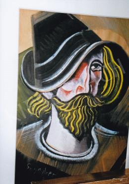 Scheiber, Hugó - Man in Hat; 64x48 cm; mixed media on paper; Signed lower left: Scheiber H; Photo: Tamás Kieselbach