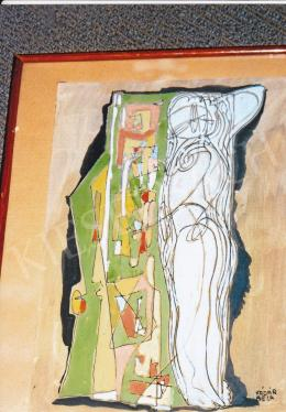 Kádár Béla - Kompozíció alakkal; 30.5x21 cm; Vegyestechnika, papír; J. j. l.: Kádár Béla; Fotó: Kieselbach Tamás