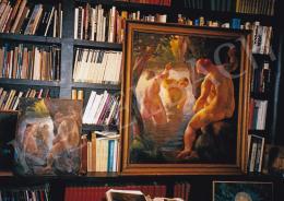 Patkó Károly - Fürdőzők; 125x110 cm; Olaj, vászon; Jelezve balra lent: Patkó; Fotó: Kieselbach Tamás