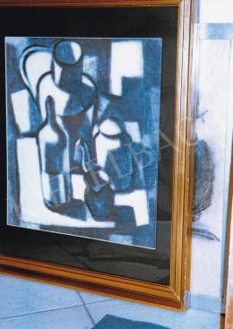 Vajda Lajos - Konstruktivista csendélet, 1928; 35,8x34 cm; szén, papír; Jelzés nélkül, Fotó: Kieselbach Tamás