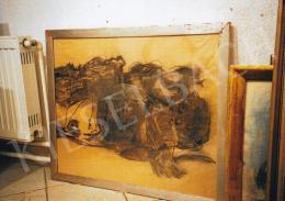 Vajda Lajos - Fekete folyondár, 1939; 63x78 cm; szén, pasztell, papír; Jelzés nélkül; Fotó: Kieselbach Tamás