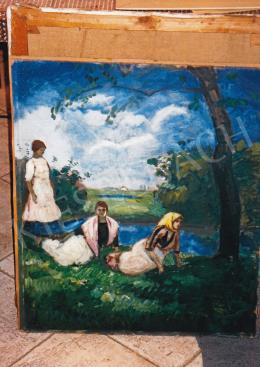 Iványi Grünwald, Béla - Girls in the Field, early 1910s; 70.5x60.5 cm; oil on cardboard; Signed lower right: Grünwald Béla; Photo: Tamás Kieselbach