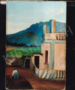 Csontváry Kosztka Tivadar - Dalmát vidék, 1900 k., olaj,vászon, 40x27 cm; Fotó: Kieselbach Tamás