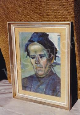 Kmetty János - Kék asszony, 38x28 cm; Fotó: Kieselbach Tamás