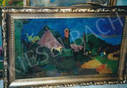 Nagy Oszkár - Fűrész utca, olaj,vászon, 53,5x91 cm, Jelezve balra lent:Nagy Oszkár; Fotó: Kieselbach Tamás