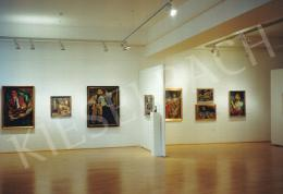 Hantai Simon - Hantai Simon kiállítása; Fotó: Kieselbach Tamás