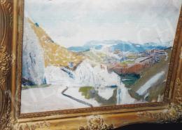 Mednyánszky László - Tájkép háttérben hegyekkel; Fotó: Kieselbach Tamás