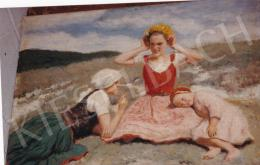 Glatz, Oszkár - Sisters, oil on canvas, 50x70 cm, Signed lower right: Glatz 1936; Photo: Tamás Kieselbach