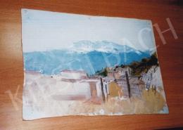 Mednyánszky László - Havas hegycsúcs látképe; akvarell, papír; Jelzés nélkül; Fotó: Kieselbach Tamás