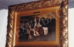 Edvi Illés, Aladár - Little Cow, oil on board, 22x34 cm; Signed lower left: E. Illés A.; Photo: Tamás Kieselbach