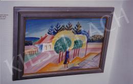 Kmetty János - Vízhordó, tempera,papír, 50x68,5 cm, Jelezve jobbra lent: Kmetty; Fotó: Kieselbach Tamás