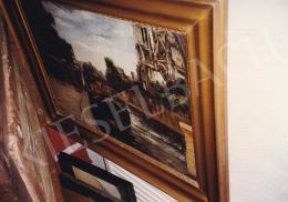Orbán Dezső - Szajnapart a Notre Dame-mal, olaj, vászon, 54x74 cm, Jelezve balra lent: Orbán Paris 1926; Fotó: Kieselbach Tamás