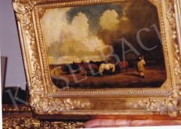 Lotz Károly - Vihar, 1862 körül, olaj,papír,kartonon, 16x24 cm, Jelezve jobbra lent: Lotz; Fotó: Kieselbach Tamás
