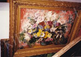 Iványi Grünwald, Béla - Great Still Life of Flowers, oil on canvas, 60x81 cm, Signed lower right: Iványi Grünwald; Photo: Tamás Kieselbach