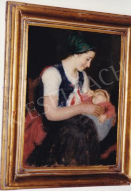 Glatz, Oszkár - Mother and Child, oil on panel, 40,5x31 cm, Signed lower left: Glatz; Photo: Tamás Kieselbach