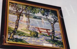 Schadl János - Vitorlások, olaj,vászon,kartonon, 56x60 cm, Jelezve jobbra lent: Schadl; Fotó: Kieselbach Tamás
