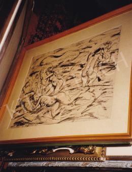 Márffy Ödön - Aktok tájban, vegyestechnika,papír, 37,5x45,5 cm, Jelezve jobbra lent: Márffy; Fotó: Kieselbach Tamás