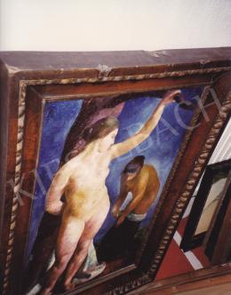 Patkó Károly - Fürdés előtt, olaj,vászon, 80x48 cm, Jelezve jobbra lent: Patkó 1924, Fotó: Kieselbach Tamás