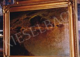 Mednyánszky László - Sziklás vízpart, olaj,vászon, 60x80 cm, Jelezve jobbra lent: Mednyánszky; Fotó: Kieselbach Tamás