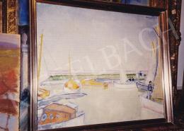 Vaszary János - Vitorlások a Balatonon, olaj,vászon, 54x66,5 cm, Jelezve jobbra fent: Vaszary J.; Fotó: Kieselbach Tamás