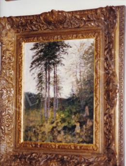 Mednyánszky László - Erdő szélén, olaj,falemez, 30x21,5 cm, Jelezve jobbra lent: Mednyánszky; Fotó: Kieselbach Tamás