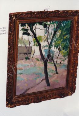 Jávor Pál - Szolnoki részlet, olaj,vászon, 23,5x30 cm, Jelezve jobbra lent: Jávor; Fotó: Kieselbach Tamás