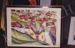 Pap Géza - Tabán, szén,papír, 15,5x32 cm, Jelezve középen lent: Scheiber; Fotó: Kieselbach Tamás