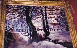 Husovszky János - Téli kert Nagybányán, olaj,vászon, 81x100 cm, Jelezve jobbra lent: Husovszky; Fotó: Kieselbach Tamás