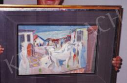 Kádár Béla - Udvarlás, tempera,papír, 47x31 cm, Jelezve jobbra lent: Kádár Béla; Fotó: Kieselbach Tamás