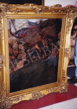 Pogány Ferenc - A Vág völgye, olaj,vászon, 94x73 cm, Jelezve jobbra lent: Pogány Ferenc 917. Vág völgye, Fotó: Kieselbach Tamás