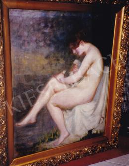 Thorma János - Fürdés után, olaj,vászon, 94x74,5 cm, Jelezve balra lent: Thorma, Fotó: Kieselbach Tamás