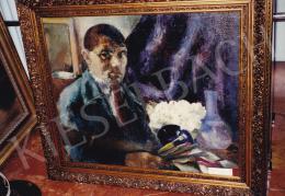 Jándi Dávid - Önarckép, olaj,vászon, 70x75 cm, Jelezve balra lent: Jándi; Fotó: Kieselbach Tamás